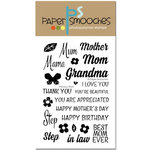 Paper Smooches - Clear Acrylic Stamps - Precious Mom