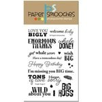 Paper Smooches - Clear Acrylic Stamps - Huge Hugs 2