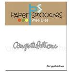 Paper Smooches - Dies - Congratulations