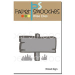 Paper Smooches - Dies - Wood Sign