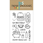 Paper Smooches - Clear Acrylic Stamps - Alfresco