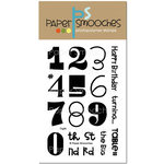 Paper Smooches - Clear Acrylic Stamps - Digits
