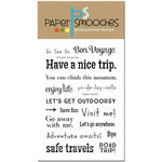 Paper Smooches - Clear Acrylic Stamps - Happy Travels