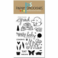 Paper Smooches - Clear Acrylic Stamps - New Beginnings