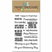 Paper Smooches - Clear Acrylic Stamps - New Beginnings 2