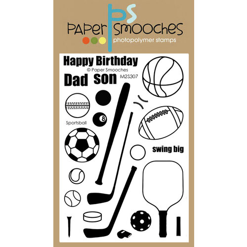 Paper Smooches - Clear Photopolymer Stamps - Sportsball