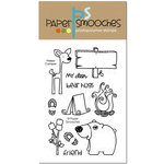 Paper Smooches - Clear Acrylic Stamps - Happy Camper