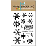 Paper Smooches - Christmas - Clear Acrylic Stamps - Fresh Snow