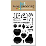 Paper Smooches - Clear Acrylic Stamps - Cute Fruit