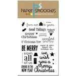 Paper Smooches - Christmas - Clear Acrylic Stamps - Be Merry