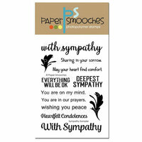 Paper Smooches - Clear Acrylic Stamps - Sympathy Sampler
