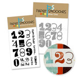 Paper Smooches - Die and Acrylic Stamp Set - Digits Numbers Bundle
