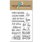 Paper Smooches - Clear Acrylic Stamps - Christmas Sampler