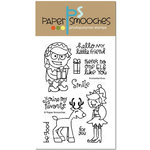 Paper Smooches - Christmas - Clear Acrylic Stamps - Enchanted Elves