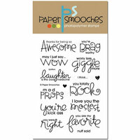 Paper Smooches - Clear Acrylic Stamps - Uplifters