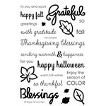 Paper Smooches - Clear Acrylic Stamps - Fall Sampler