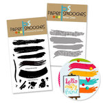 Paper Smooches - Die and Acrylic Stamp Set - Paint Strokes Bundle