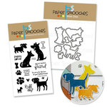 Paper Smooches - Die and Acrylic Stamp Set - Paws for the Cause Bundle