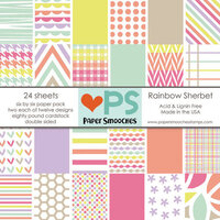 Paper Smooches - 6 x 6 Paper Pack - Rainbow Sherbet