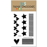Paper Smooches - Clear Acrylic Stamps - Primary