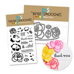 Paper Smooches - Die and Acrylic Stamp Set - Roses - Lovely Thoughts Bundle