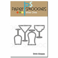 Paper Smooches Drink Glasses Dies