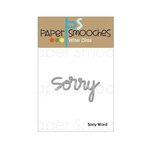 Paper Smooches - Dies - Sorry Word