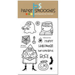 Paper Smooches - Halloween - Clear Acrylic Stamps - Halloweenies