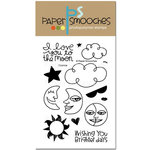 Paper Smooches - Clear Acrylic Stamps - Cosmos