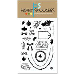 Paper Smooches - Christmas - Clear Acrylic Stamps - Holly Jolly