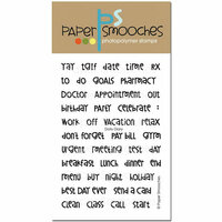 Paper Smooches - Clear Acrylic Stamps - Daily Diary