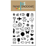 Paper Smooches - Clear Acrylic Stamps - Dinky Doodles 1