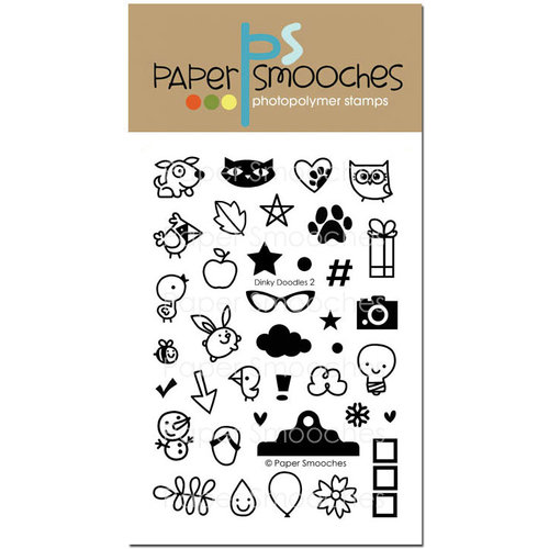Paper Smooches - Clear Acrylic Stamps - Dinky Doodles 2