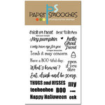 Paper Smooches - Clear Acrylic Stamps - Halloween Sampler