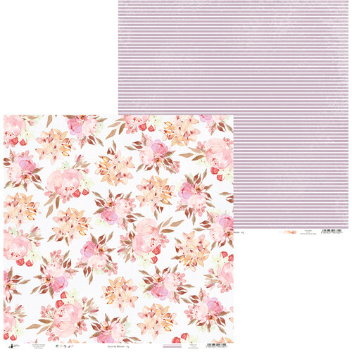 P13 - Love in Bloom Collection - 12 x 12 Double Sided Paper - 05