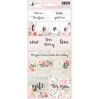 P13 - Love in Bloom Collection - Cardstock Sticker Sheet - Two
