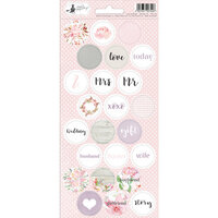P13 - Love in Bloom Collection - Cardstock Sticker Sheet - Three