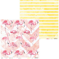P13 - Lets Flamingle Collection - 12 x 12 Double Sided Paper - 01