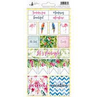 P13 - Lets Flamingle Collection - Cardstock Sticker Sheet - Two