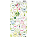 P13 - Lets Flamingle Collection - Cardstock Sticker Sheet - Three