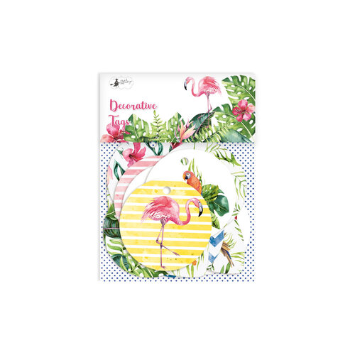 P13 - Lets Flamingle Collection - Embellishments - Tag Set - One