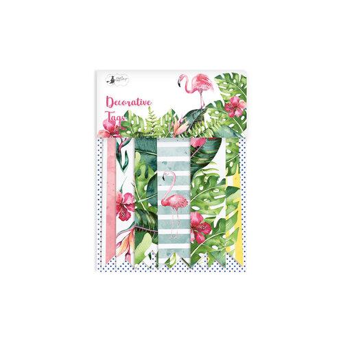 P13 - Lets Flamingle Collection - Embellishments - Tag Set - Three