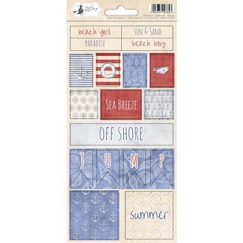 P13 - Off Shore II Collection - Cardstock Sticker Sheet - Two