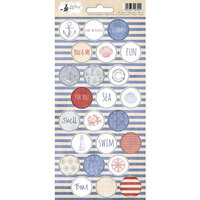 P13 - Off Shore II Collection - Cardstock Sticker Sheet - Three