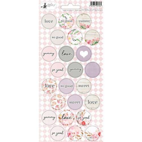 P13 - Love in Bloom Collection - Party Sticker Sheet - Two