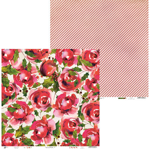 P13 - Rosy Cosy Christmas Collection - 12 x 12 Double Sided Paper - 04