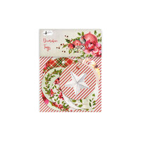 P13 - Rosy Cosy Christmas Collection - Embellishments - Tag Set - One