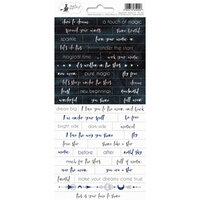P13 - New Moon Collection - Cardstock Sticker Sheet - One