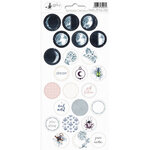P13 - New Moon Collection - Cardstock Sticker Sheet - Three