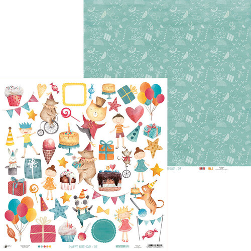 P13 - Happy Birthday Collection - 12 x 12 Double Sided Paper - 07